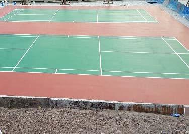 硅pu羽毛球场 龙凤小区